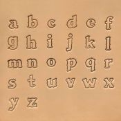 "Jeu de 26 lettres de l'alphabet minuscules Craftool - 1,25 cm - 1/2"""