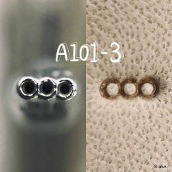 Matoir sur manche OKA - Background 3 ronds en ligne 3,4mm - A101-3