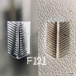 Matoir sur manche OKA - Figure Carving plume strié horizontal - F121