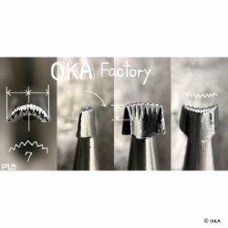 Matoir sur manche OKA - Figure Carving arrondi strié vertical - F925