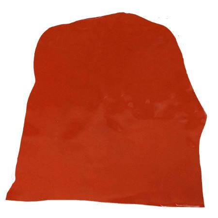 Peau de croûte de cuir verni - MARRON BRIQUE D61