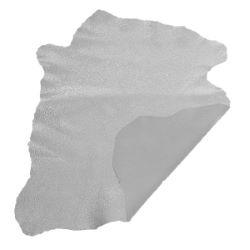 Peau de cuir de chèvre effet craquelé - ARGENT E48