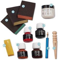 Kit outils pour le travail des tranches - Deco Cuir