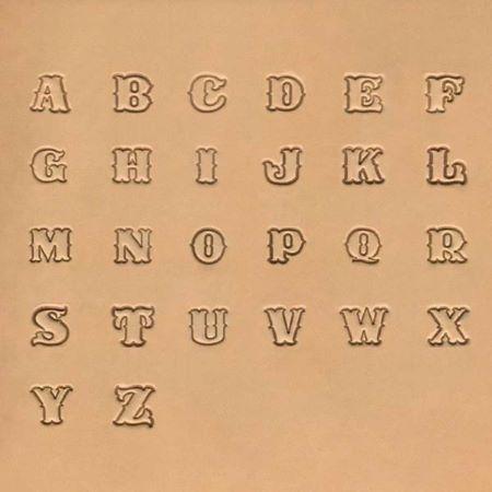 Jeu des 26 lettres de l'alphabet à frapper - 1,91 cm