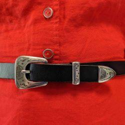 Boucle de ceinture mexicaine SOL - ARGENT VIEILLI - 20mm
