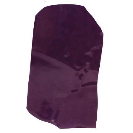 Peau de croûte de cuir verni - AUBERGINE D68