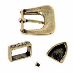 Boucle de ceinture mexicaine SOL - LAITON VIEILLI - 20mm