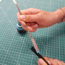 Spatule double - application teinture de tranche IVAN - 3439