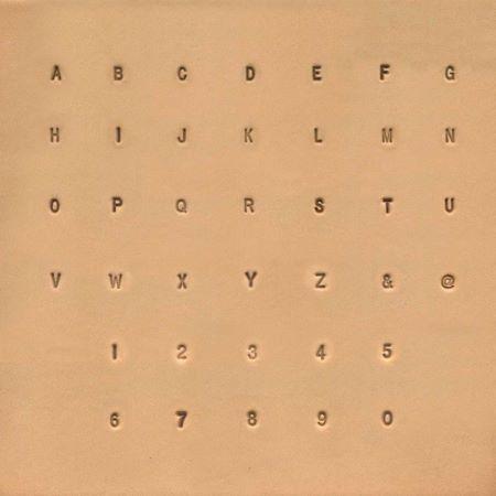Jeu de lettres de l'alphabet et de chiffres - 0,32 cm - 1/8