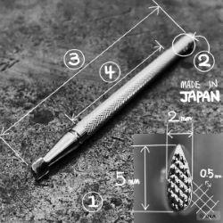 Matoir sur manche OKA - Background grain fin 2mm - A98