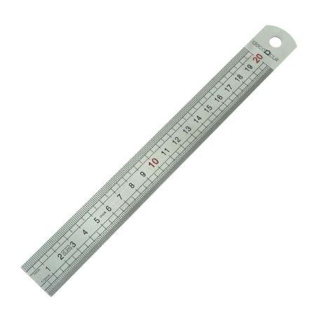 Réglet inox LARGE - 20 cm - DECO CUIR