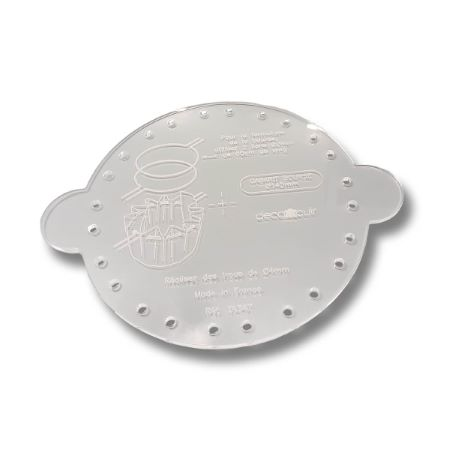 Gabarit Bourse diamètre 14,5 cm - Deco Cuir