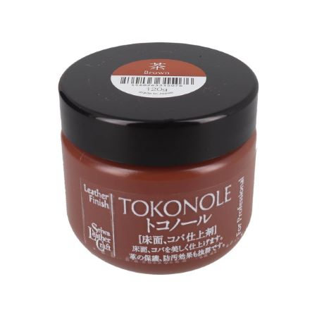 Tokonole - Gomme de finition pour cuir - 120 g - Marron