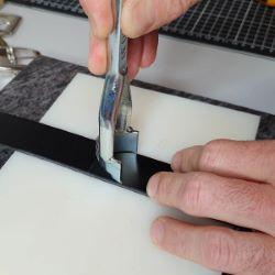 Emporte pièce à frapper à bout OGIVE - DECO CUIR - 30 mm