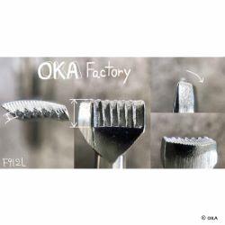 Matoir sur manche OKA - Figure Carving strié gauche - F912-L