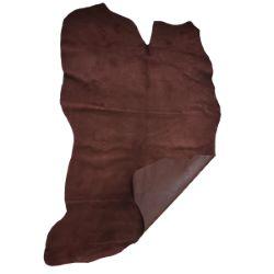 Peau de cuir de porc doublure velours - MARRON CHOCOLAT F95