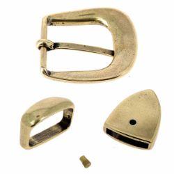 Boucle de ceinture mexicaine TAM - LAITON VIEILLI - 25mm