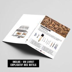 Kit outils pour le repoussage du cuir - Deco Cuir