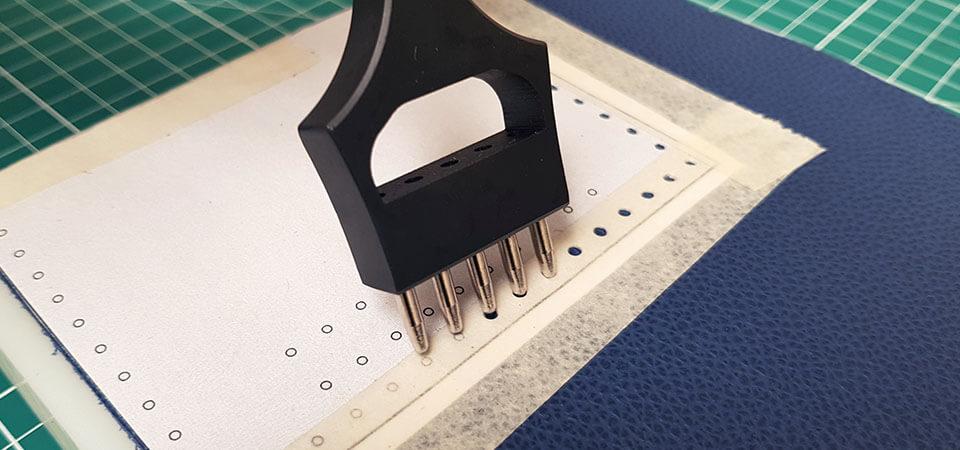 griffe trou pour couture cuir