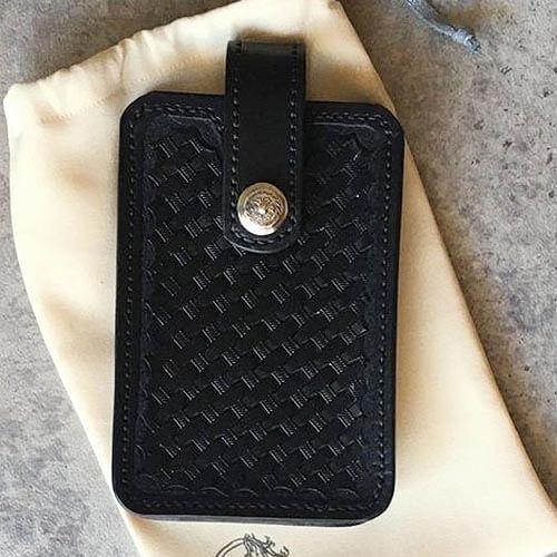étui smartphone en cuir