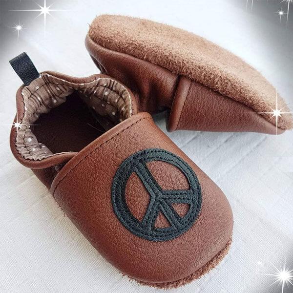 chaussons en cuir bébé