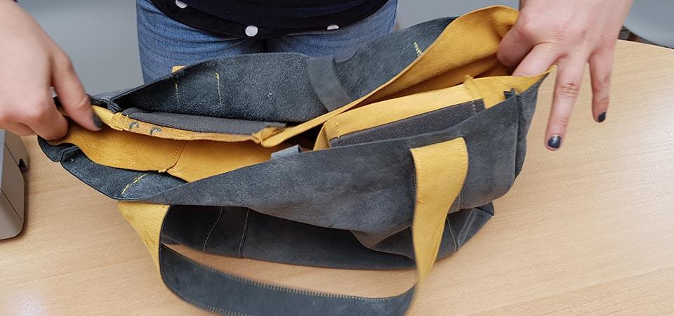 doublure dans sac cuir