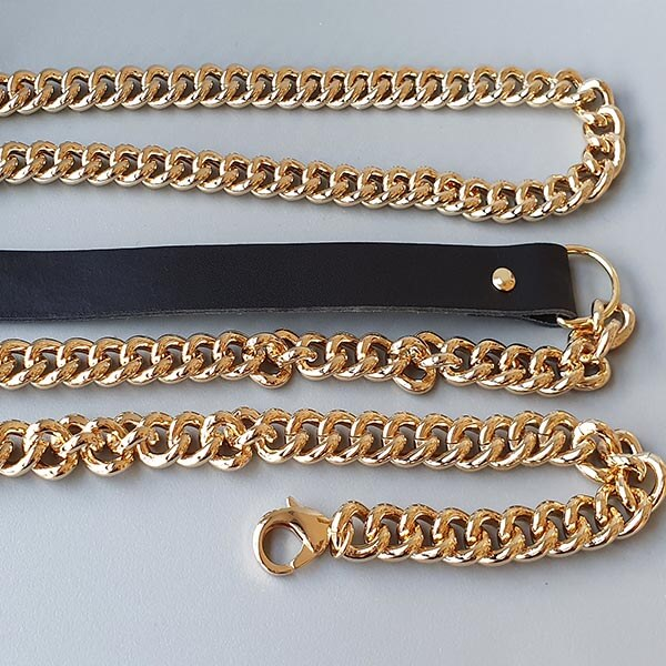 chaîne de sac et bandoulière cuir