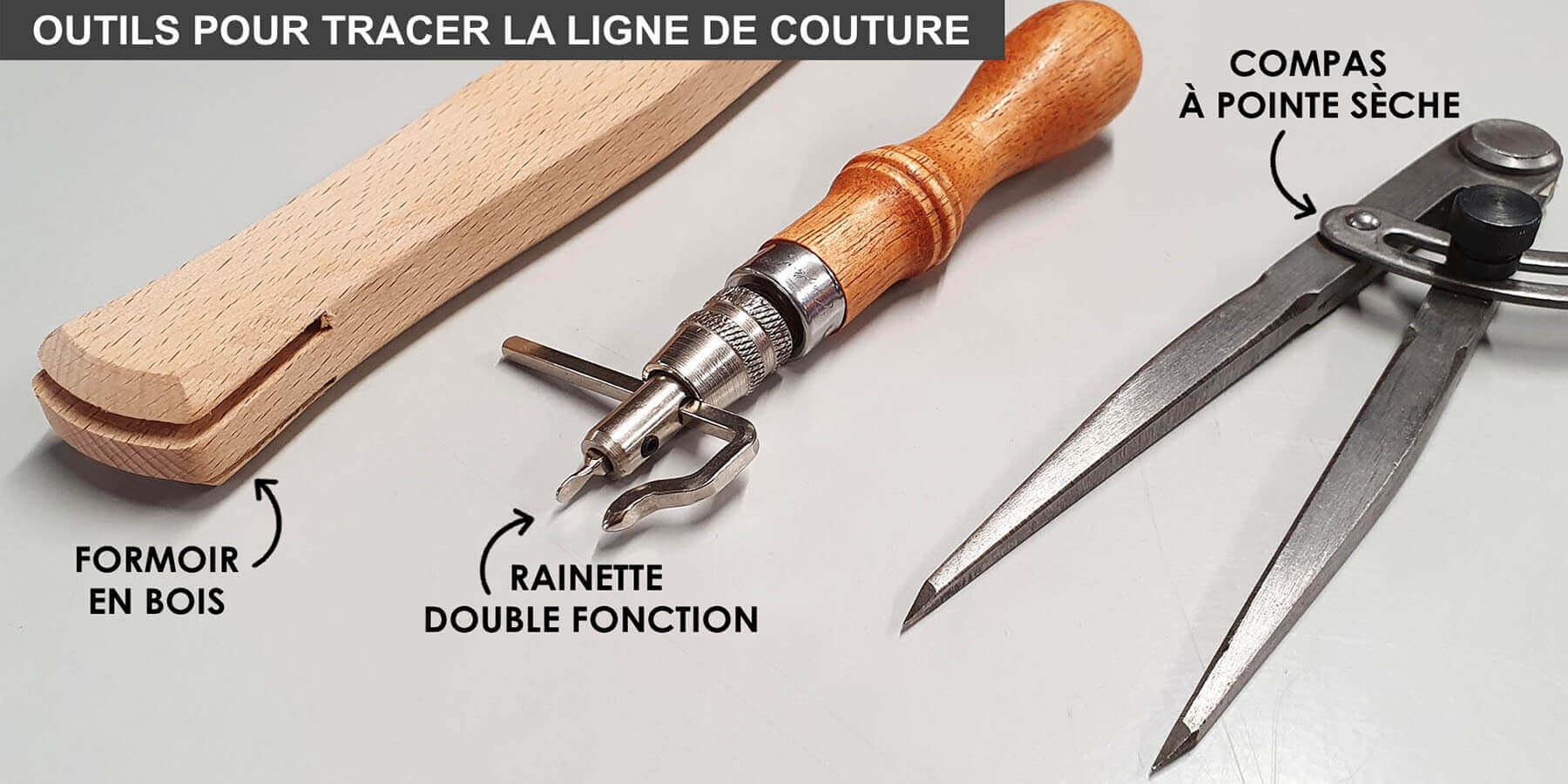 outils pour tracer la ligne de couture