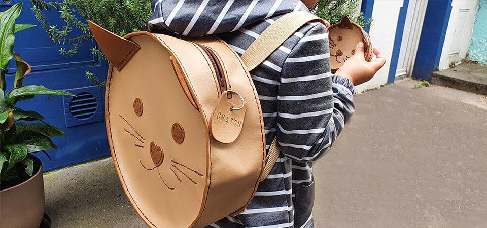 sac a dos chat enfant