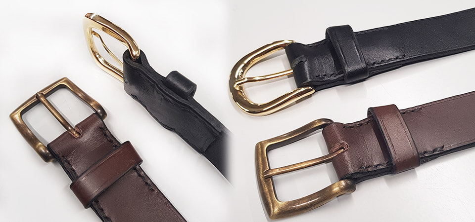 couture ceinture en cuir