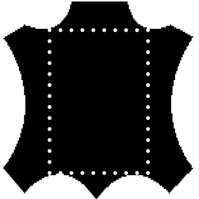 mesurer peaux de cuir
