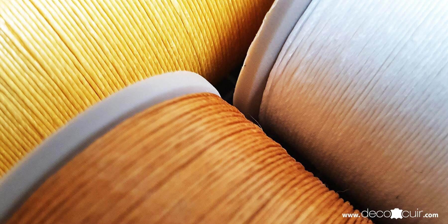bobine de fil couture cuir