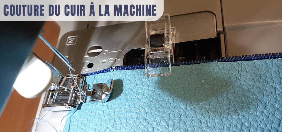 couture du cuir à la machine