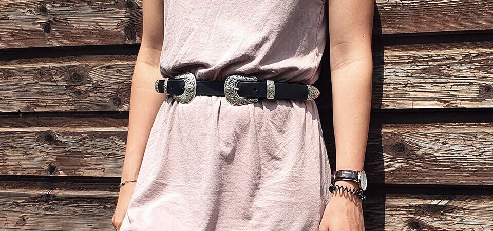 ceinture en cuir double boucle