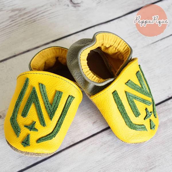 chaussons en cuir bébé 2