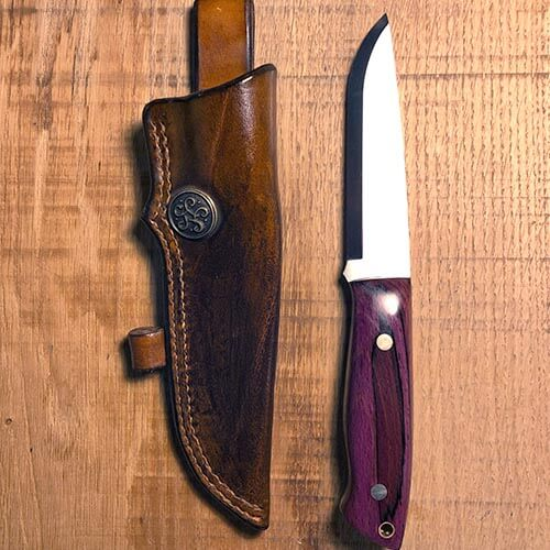 etui couteau cuir