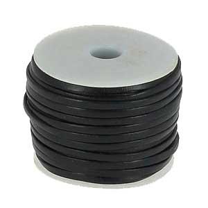 lacet cuir noir