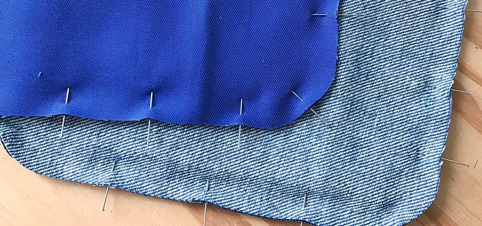 piquer avec aiguille le tissu