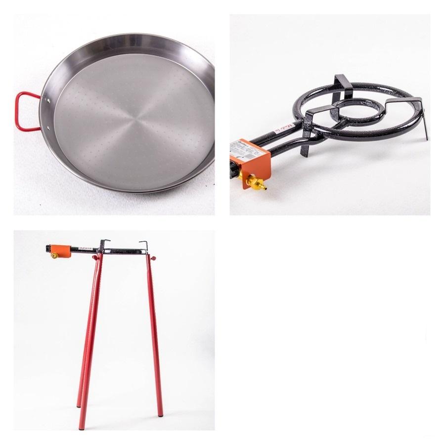 Kit à Paella acier pour 14 personnes