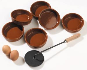 Service à crème Catalane avec 6 ramequins
