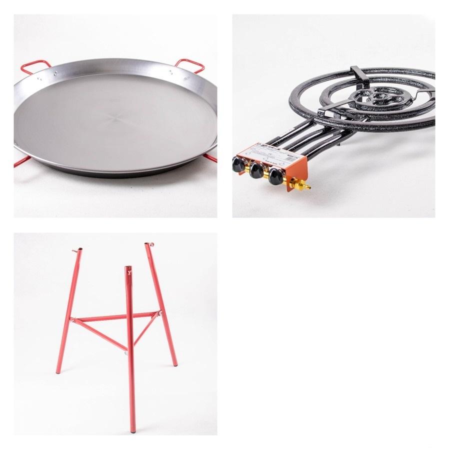 Kit à Paella pro acier pour 50 personnes