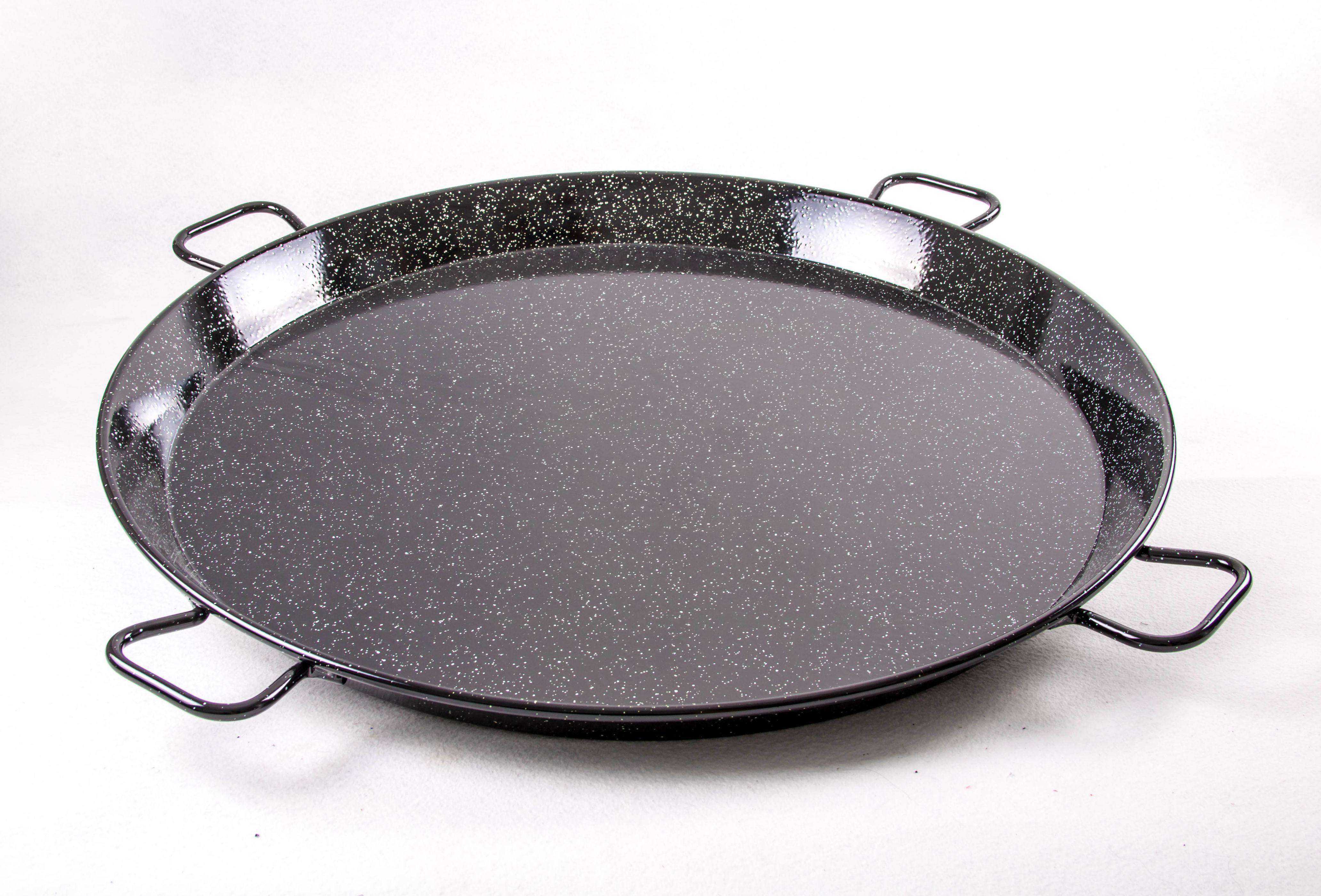 Poêle à paella acier émaillé  100 cm