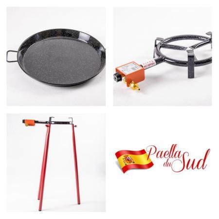 Kit à Paella en acier émaillé pour 10 personnes
