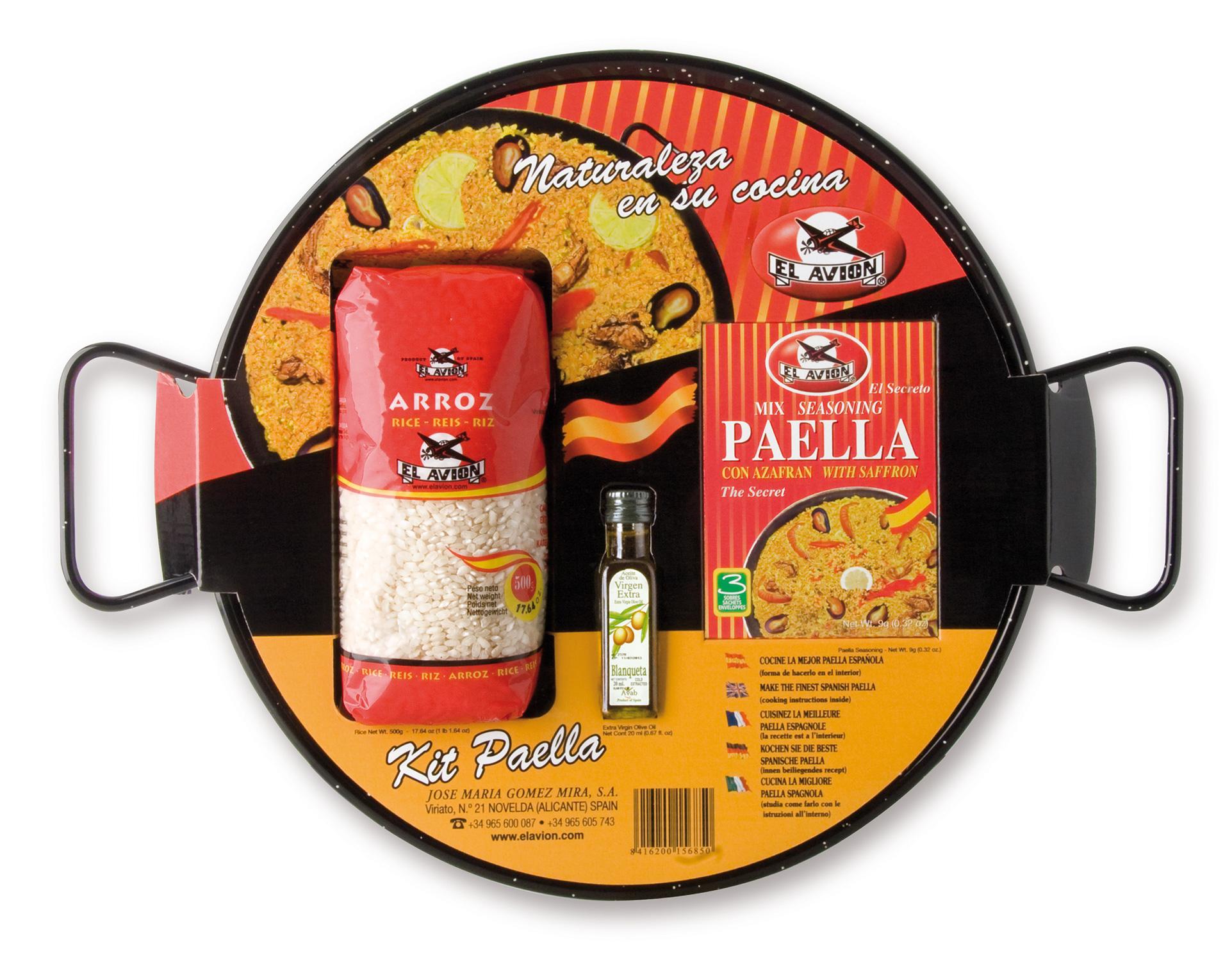 Kit à Paella émaillé pour 4 personnes