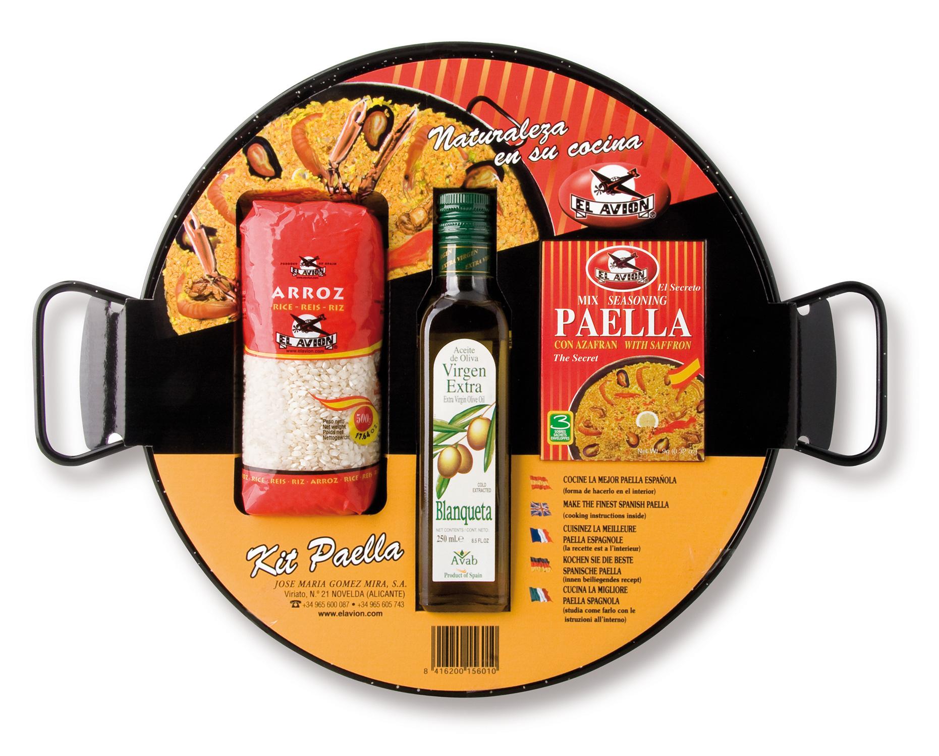 Kit à Paella émaillé pour 6 personnes