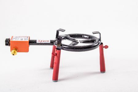 Support bruleur sur table rouge