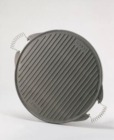 Plancha ronde en fonte émaillée 32 cm