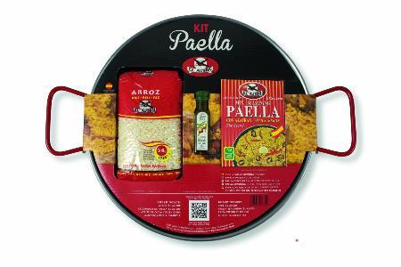 Kit à Paella acier poli pour 4 personnes