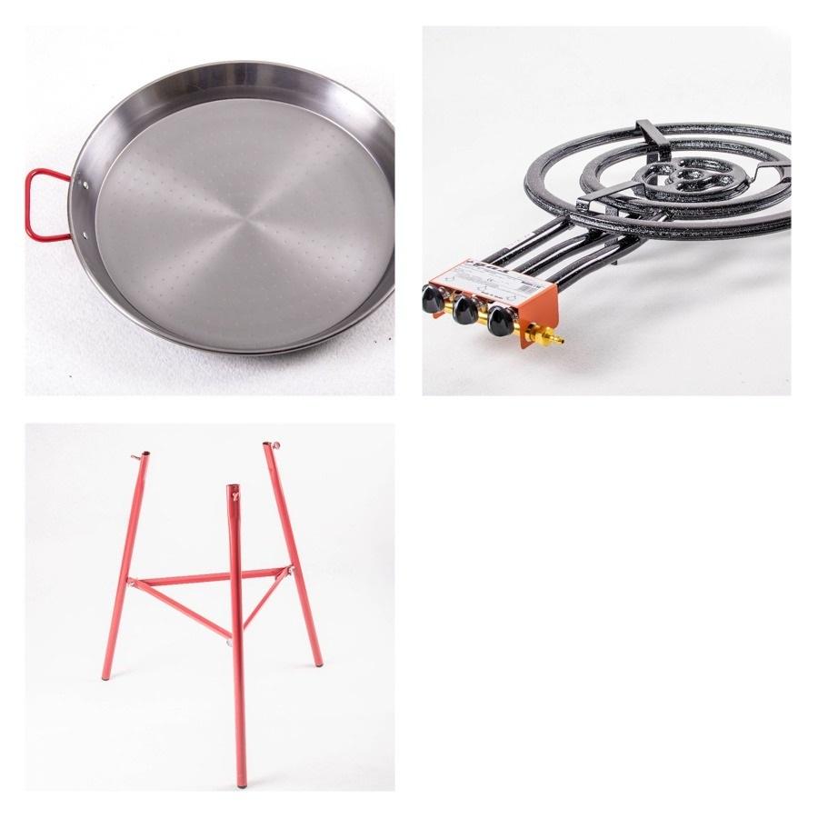 Kit à Paella pro acier pour 40 personnes