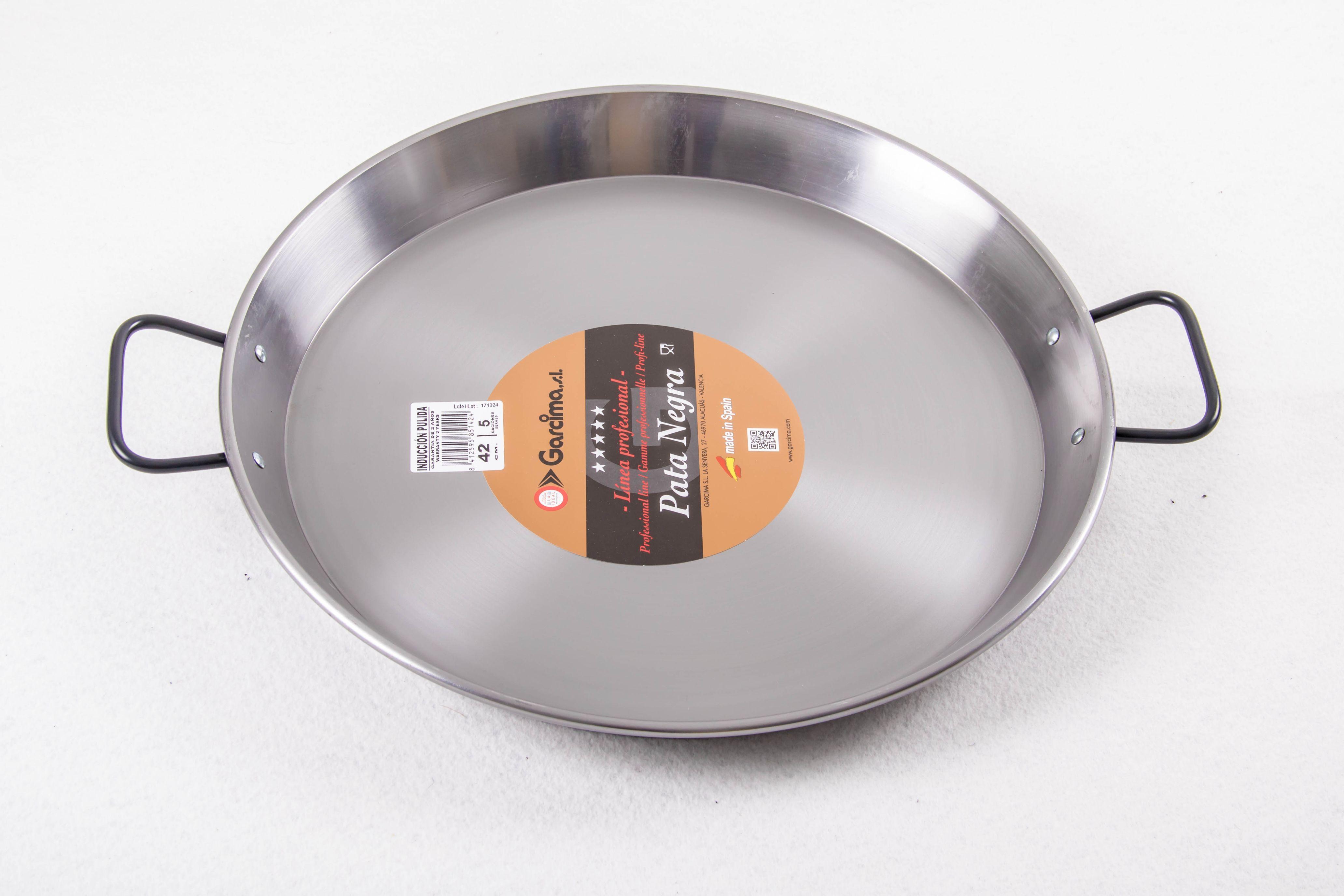 Poêle à paella acier poli pour induction 30 cm